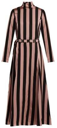 Marques Almeida Marques'almeida - High Neck Belted Dress - Womens - Black Pink