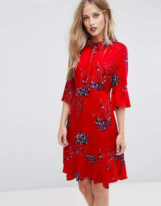 Max & Co. Max&co Penna Floral Fluted Sleeve Dress