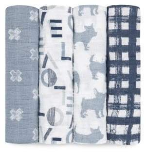 Aden Anais aden + anais Baby's Four-Piece Cotton Muslin Swaddle Pack
