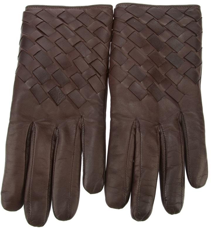 Imoni woven leather gloves