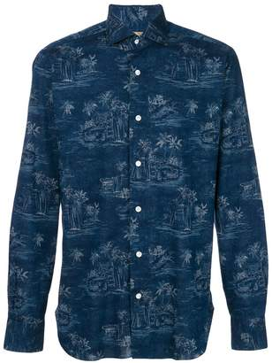Barba palm tree print shirt