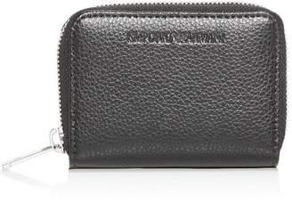 Giorgio Armani Vitello Bottalato Leather Coin Pouch