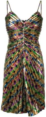 Moschino square print ruched dress