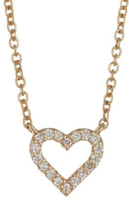 Bony Levy 18K Yellow Gold Petite Open Heart Diamond Pendant - 0.05 ctw