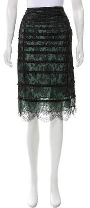 Marc Jacobs Knee-Length Lace Skirt