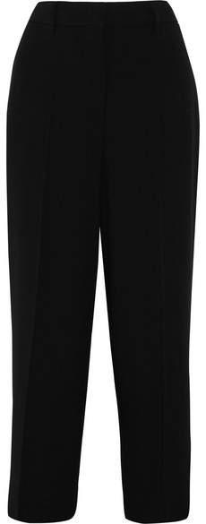 Prada - Cropped Crepe Straight-leg Pants - Black