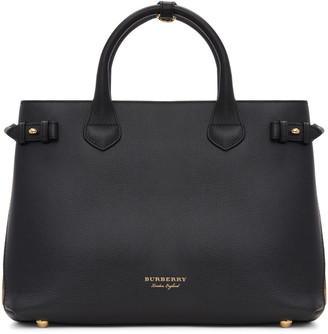 Burberry Black Medium Banner Tote $1,595 thestylecure.com