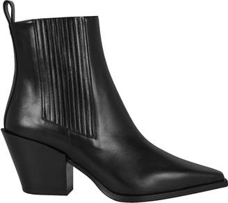 Aeyde Kate Leather Cuban Heeled Booties