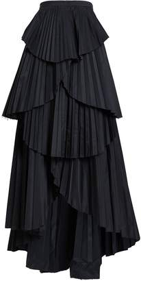 AMUR Ophelia Tiered High-Low Skirt