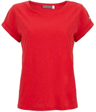 Mint Velvet Chilli Red Cotton Star Tee