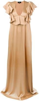 Rochas ruffle neck gown