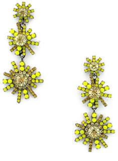 Elizabeth Cole Sunrise Crystal Drop Earrings