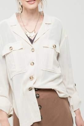 Blu Pepper Button Detail Shirt