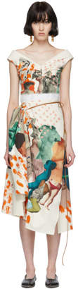 Marni Off-White Venere Print Dress