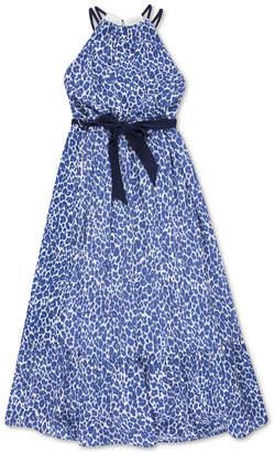 Speechless Little Girls Animal-Print Maxi Dress