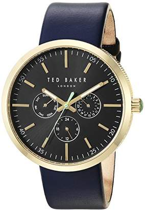Ted Baker Men's 'Jack' Quartz Stainless Steel and Leather Dress Watch