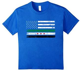 Syrian American Flag - USA Syria Shirt