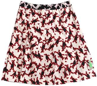 Marni Junior Rabbit Print Cotton Poplin Skirt