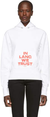Helmut Lang SSENSE Exclusive White and Red Brian Roettinger Logo Hack Standard Hoodie