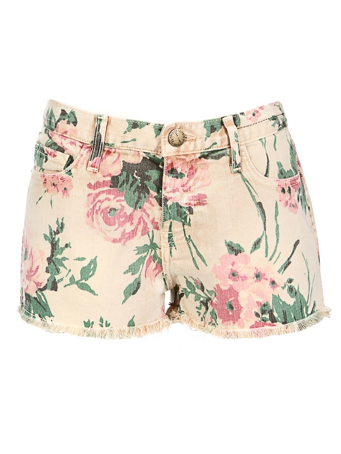 CURRENT/ELLIOTT Boyfriend Short In Haystack Floral