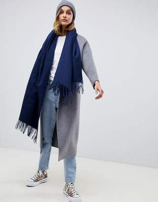 Asos Design DESIGN oversized lambswool scarf with tassels