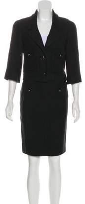 Chanel Cropped Bouclé Skirt Suit