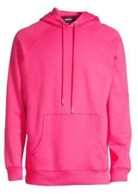 Diesel Men's Cotton Hoodie - Pink - Size Large