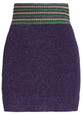 Missoni Metallic Jacquard-Knit Mini Skirt