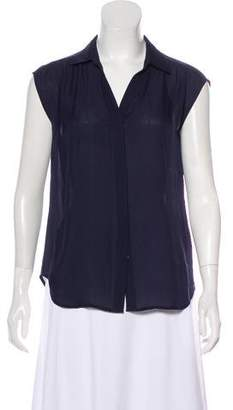 Joie Sleeveless Button-Up Silk Blouse