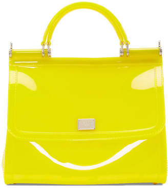 Dolce & Gabbana Yellow Small Rubber Miss Sicily Bag