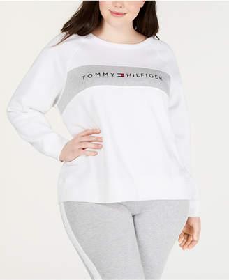 fc6ae6f9045 Tommy Hilfiger Plus Size Logo Raglan-Sleeve Sweatshirt
