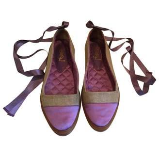 Saint Laurent Purple Cloth Espadrilles