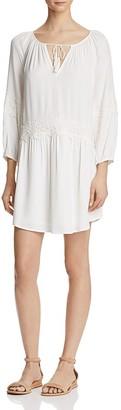 Joie Pauletta Appliquéd Lace Trim Dress $298 thestylecure.com