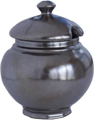 Juliska Pewter Stoneware Lidded Sugar Bowl