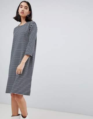 Selected Ava stripe jersey dress
