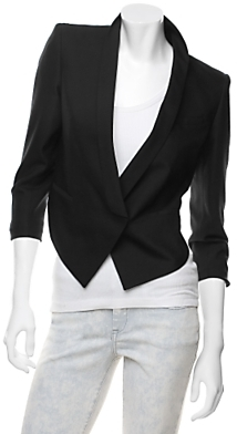 Helmut Lang Stretch Wool Tuxedo Jacket