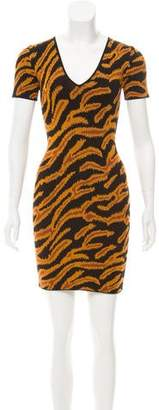 Torn By Ronny Kobo Animal Print Bodycon Dress