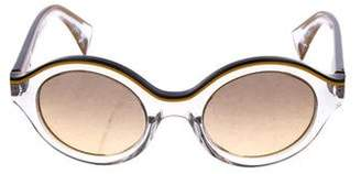 Alain Mikli Translucent Round Sunglasses