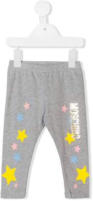 Moschino Kids logo print leggings