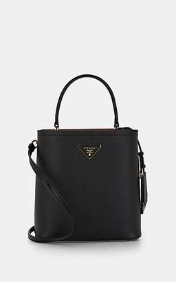 Prada Women's Small Leather Bucket Bag - Black