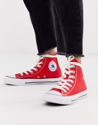 Converse Chuck Taylor All Star Hi Red trainers