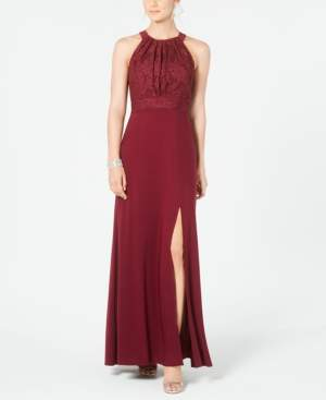 Night Way Nightway Lace & Glitter Gown
