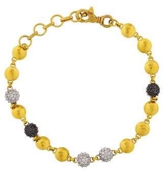 Gurhan 24K Diamond Lentil Bracelet