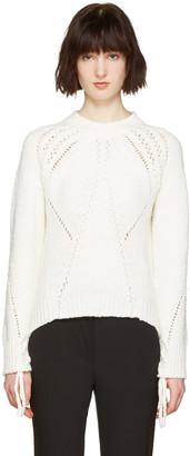 3.1 Phillip Lim White Pointelle Sweater $450 thestylecure.com