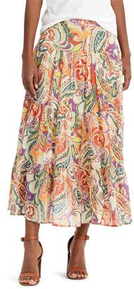 Chaps Petite Crinkle Skirt