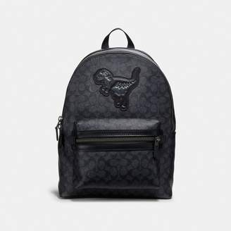 Coach Academy Backpack In Signature Canvas With Rexy