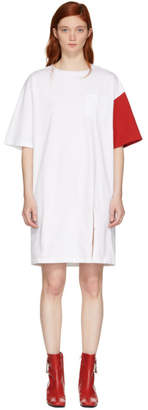 Sjyp White and Red California Club T-Shirt Dress