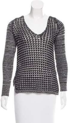 Helmut Lang Crocheted Open Sweater
