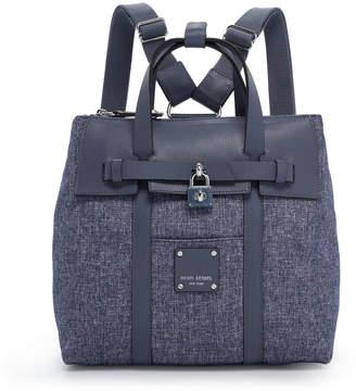 Henri Bendel Jetsetter Mini Convertible Canvas Backpack