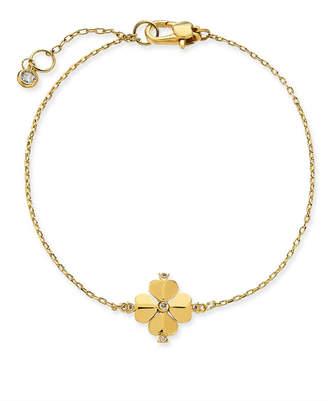 Kate Spade Gold-Tone Crystal Flower Flex Bracelet